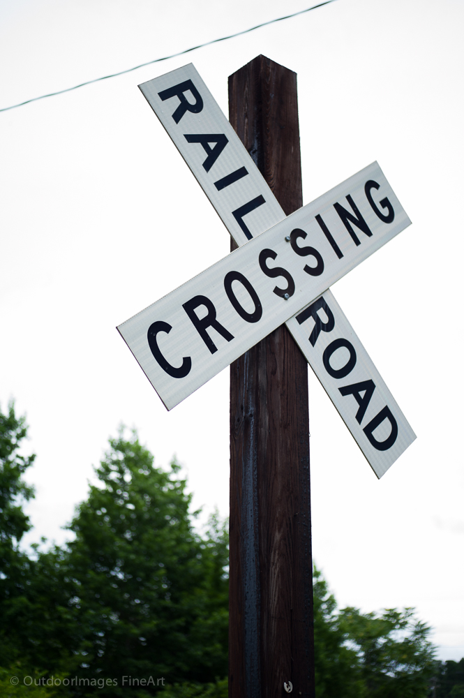 old cross railroad sign