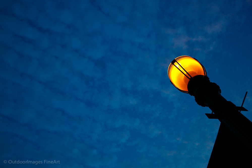 lampost and morning sky