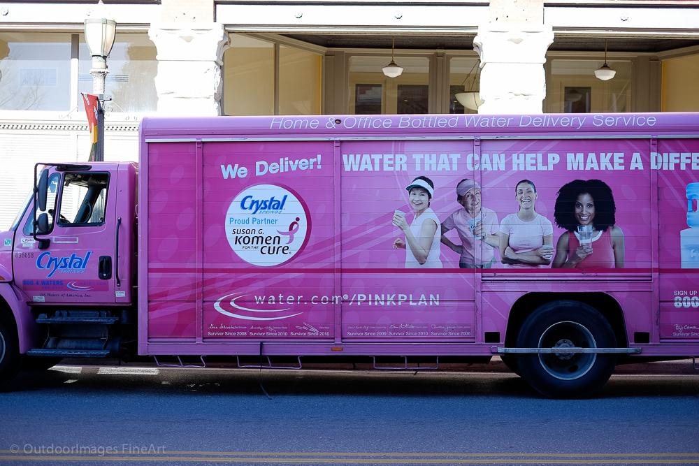 Pink Water Truck - Voigtlander 50mm f/1.5 Nokton